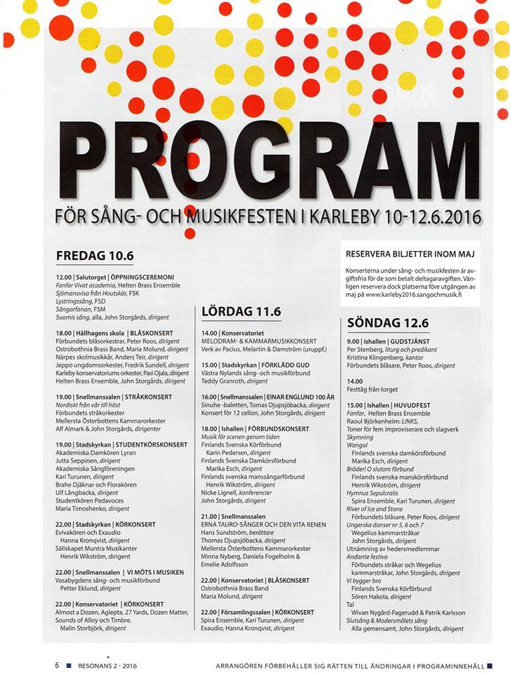 sångfestprogram